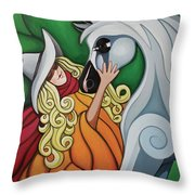 Pony Girl #1 Throw Pillow