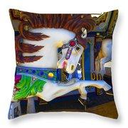 Pony Carousel - Pony Series 6 Throw Pillow