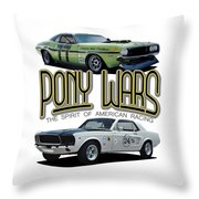 Pony War Classics Throw Pillow