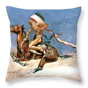 Pony War Dance Throw Pillow