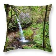 Ponytail Falls, Oregon Throw Pillow
