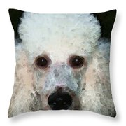 Poodle Art - Noodles Throw Pillow by Sharon Cummings