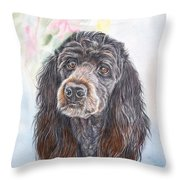 Poodle Mix  Throw Pillow