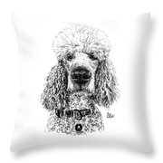 Poodle @standerdpoodle Throw Pillow