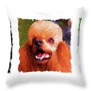 Poodle Trio Throw Pillow by Jai Johnson