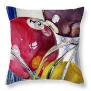 Pool Balls In A Vase Throw Pillow