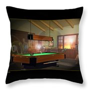 Pool Ghosts Throw Pillow