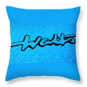 Pool Mural For Walts Pizza Marion Il Throw Pillow