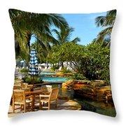 Pool Paradise Throw Pillow