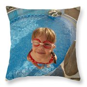 Pool Tester Throw Pillow