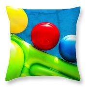 Pool Toys Throw Pillow