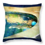Pool With Blue Ball Throw Pillow
