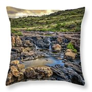 Pools And Waterfalls Throw Pillow