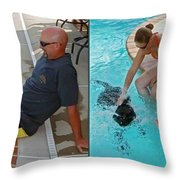 Poolside - Gently Cross Your Eyes And Focus On The Middle Image Throw Pillow