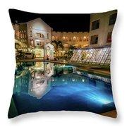 Poolside Boracay Throw Pillow