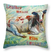 Poor Miss Bessie Throw Pillow