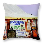 Poor Monkey's Juke Joint Throw Pillow