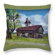 Poor Old Barn Throw Pillow