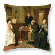 Poor Relations Throw Pillow by George Goodwin Kilburne
