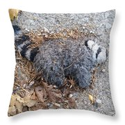 Poor Trash Panda Throw Pillow