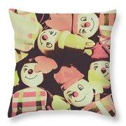 Pop Art Clown Circus Throw Pillow