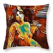 Pop Art Female Study 1d Throw Pillow