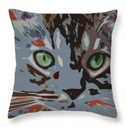 Purrfection Throw Pillow