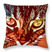 Eyes Of The Kitty Throw Pillow