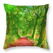 Pop Art Path Throw Pillow