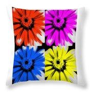 Pop Art Petals Throw Pillow