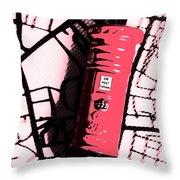 Pop Art Pillar Post Box Throw Pillow