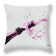 Pop Bottles Throw Pillow