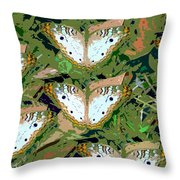 Pop Butterfly's Work Number Three Throw Pillow