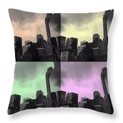 Pop City 2 Throw Pillow