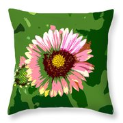 Pop Flower Work Number 23 Throw Pillow