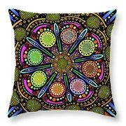 Pop Mandala Golden Throw Pillow