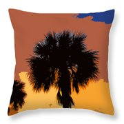 Pop Palms Throw Pillow