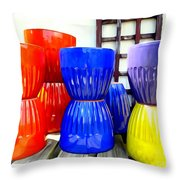 Pop Planters Throw Pillow