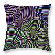 Pop Swirls Throw Pillow