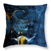 Pop The Champagne Top By Lisa Kaiser Throw Pillow