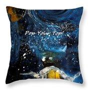 Pop Your Top By Lisa Kaiser Throw Pillow