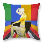 Popart Showgirl 2 Throw Pillow