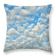 Popcorn Clouds Throw Pillow