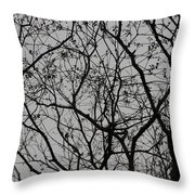 Popcorn Tree Budding Throw Pillow
