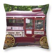 Popcorn Wagon Throw Pillow