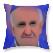 Pope Francis Peaceful Throw Pillow