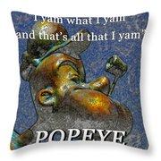 Popeye The Sailor  Throw Pillow