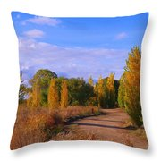 Poplar Lane Throw Pillow