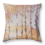 Poplars On The Banks Of The Epte Throw Pillow