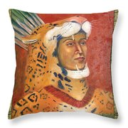 Popoca Illustration Throw Pillow